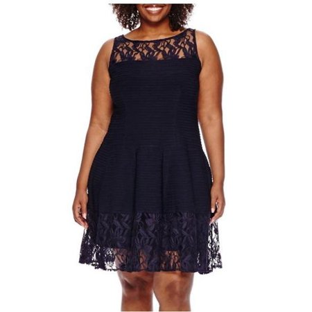 Julian Taylor Women's Plus Size Sleeveless Lace Fit and Flare Dress - Cocktail Dress](Ann Taylor Clearance Dresses)