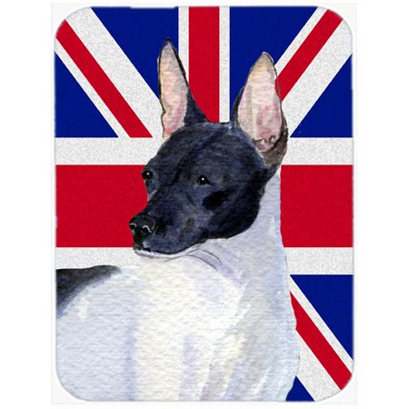 Rat Terrier with English Union Jack British Flag Mouse Pad, Hot Pad or Trivet SS4922MP