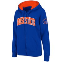 Boise State Broncos Stadium Athletic Women's Arched Name Full-Zip Hoodie - Royal