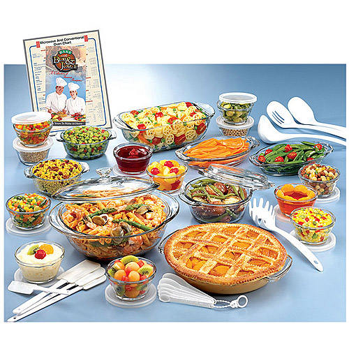 Anchor Hocking 34-Piece Expressions Deluxe Ovenware Set, Clear