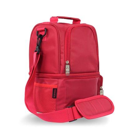 12L USB Heating Insulated Lunch Bag Thermal Travel Cooler Bag Food Beverage Carrier Bag - image 3 de 7