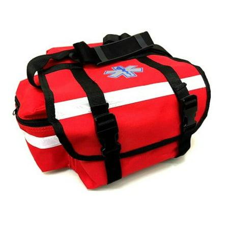 LINE2design EMS EMT Firefighter Paramedic First Responder First Aid Rescue Trauma Bag Red ()