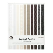 """Colorbok 8.5"""" x 11"""" Neutral Basics Cardstock, 50 Count"""