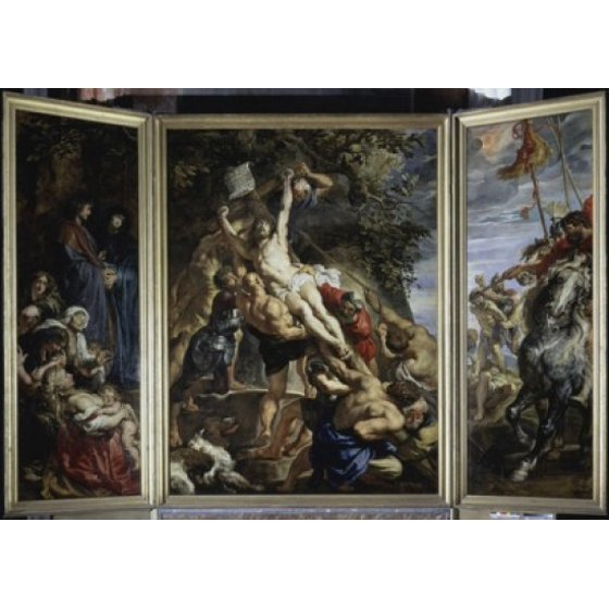 Raising Of The Cross 1610 Peter Paul Rubens 1577 1640flemish Oil On Triptych