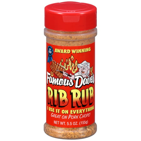 (2 Pack) Famous Dave's Rib Rub Seasoning 5.5 oz. Shaker