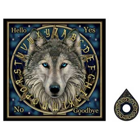 Party Games Accessories Halloween Séance Board Talking Spirit Board Power of The Forest Wolf - Best Halloween Party Games For Tweens