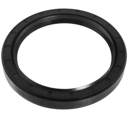 Black Nitrile Rubber Dual Lips Oil Shaft Seal TC 75mm x 95mm x 12mm - image 1 of 1