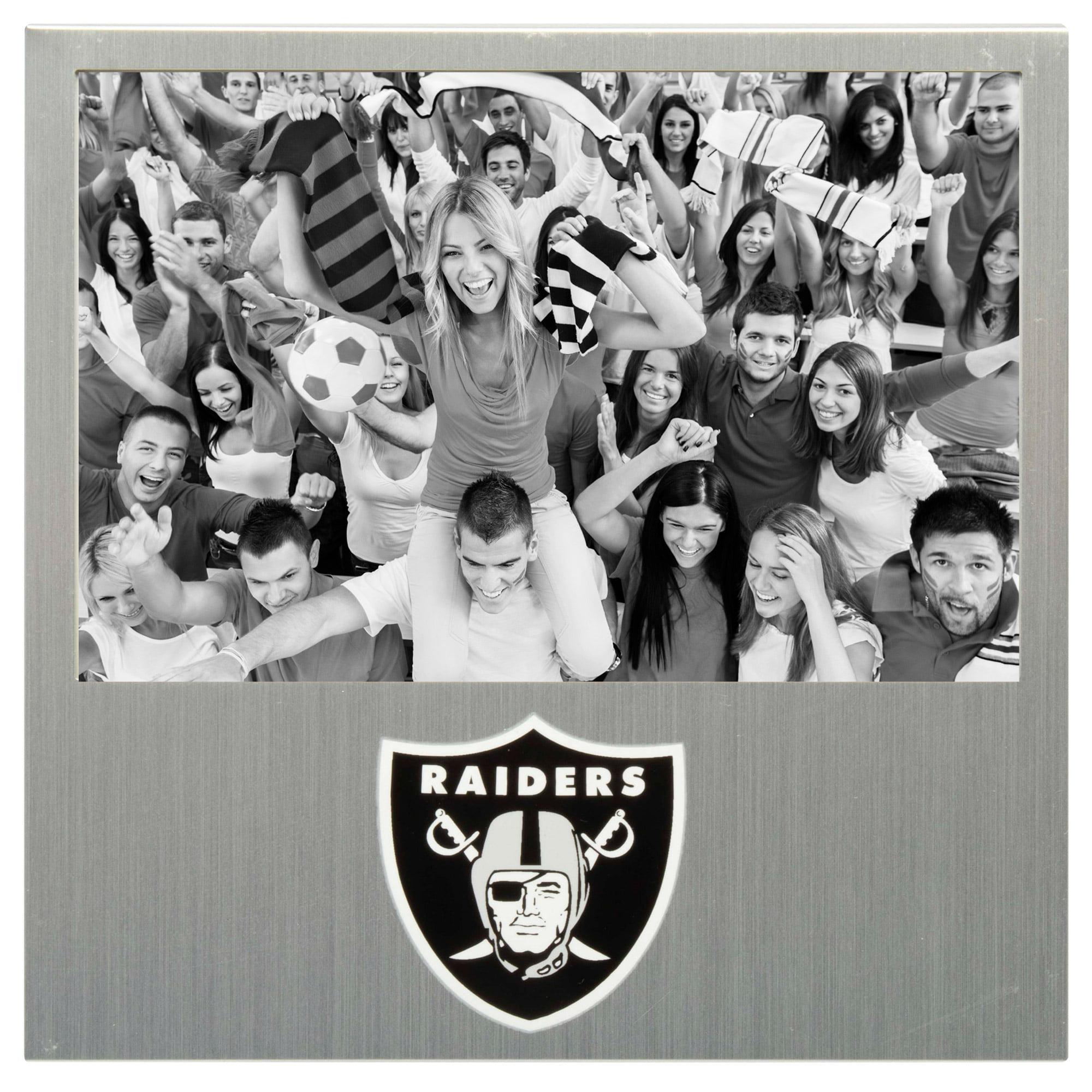 "Oakland Raiders 4"" x 6"" Aluminum Picture Frame - No Size"