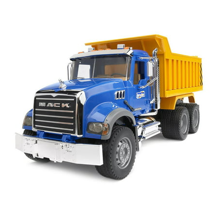 Bruder Toys Mack Granite Dump Truck w/ Functioning Bed in 1:16 Scale | 02815 ()