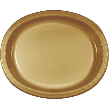 Creative Converting Glittering Gold Oval Platter 10