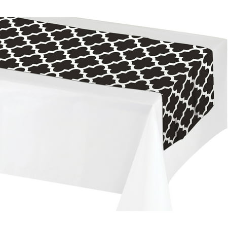 Creative Converting Black & White Table Runner, each ()