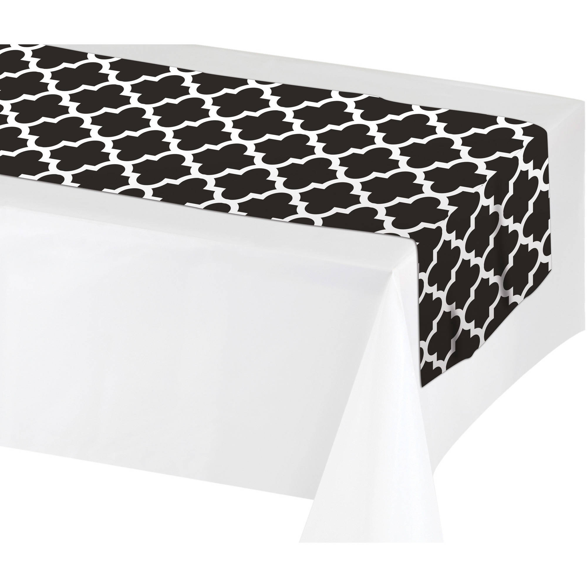 Black U0026 White Table Runner, ...