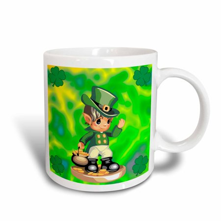 3dRose St. Patricks Day Leprechaun, Ceramic Mug, 11-ounce for $<!---->