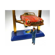 Mechanic at Work John Figure For 1:18 Scale Diecast Car Models by American Diorama