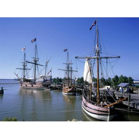 Ship Replicas, Jamestown Settlement, VA Print Wall Art By David Ball