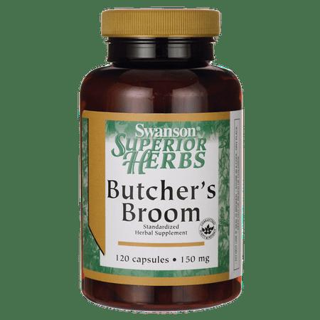 Standardized 30 Caps (Swanson Butcher's Broom (Standardized) 150 mg 120 Caps)