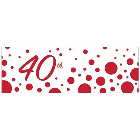 320881 40th Anniversary Giant Party Banner, Large decorative party banner By Creative Converting