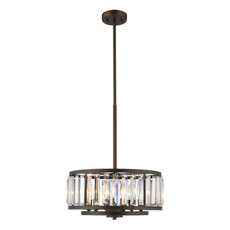 "CHLOE Lighting ELLIE Contemporary 6 Light Rubbed Bronze Ceiling Pendant 16"" Wide"