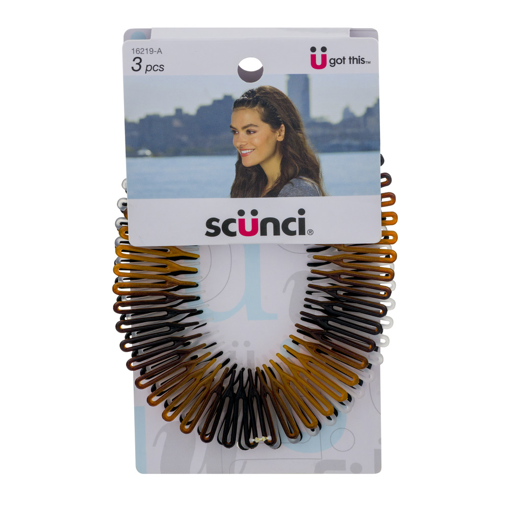 Scunci Stretch Combs, 3 count