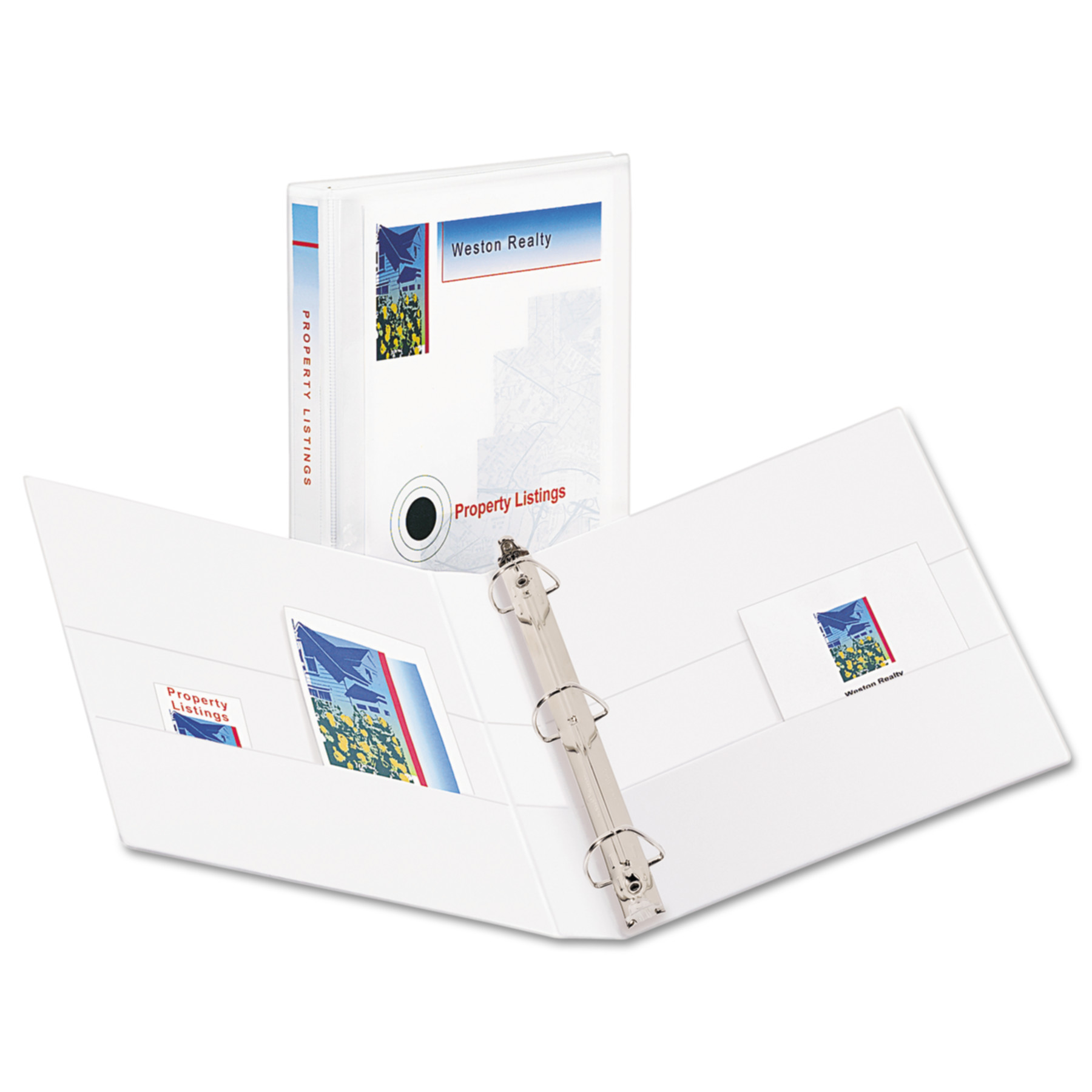 "Avery Durable View Binder w/Nonlocking EZD Rings, 11 x 8 1/2, 1"" Cap, White"