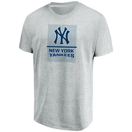 b6e2773a013 Men s Majestic Heathered Gray New York Yankees Flying High Big   Tall T- Shirt