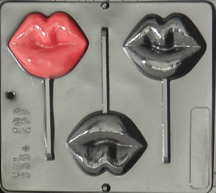 3304 Lips Lollipop Chocolate Candy Mold by