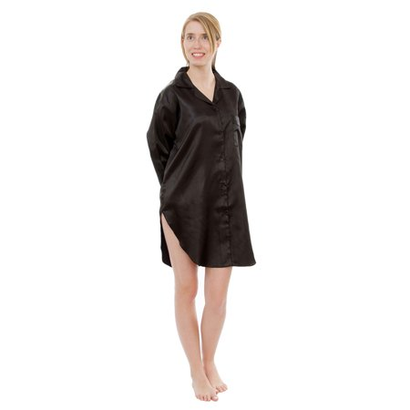 Mom Ladies Nightshirt - Up2date Fashion's Women's Satin Nightshirt