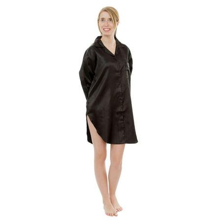 Up2date Fashion's Women's Satin Nightshirt