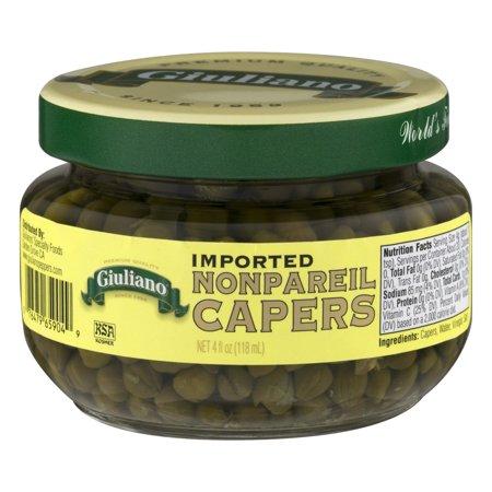 Giuliano Imported Non Pareil Capers  4 0 Fl Oz
