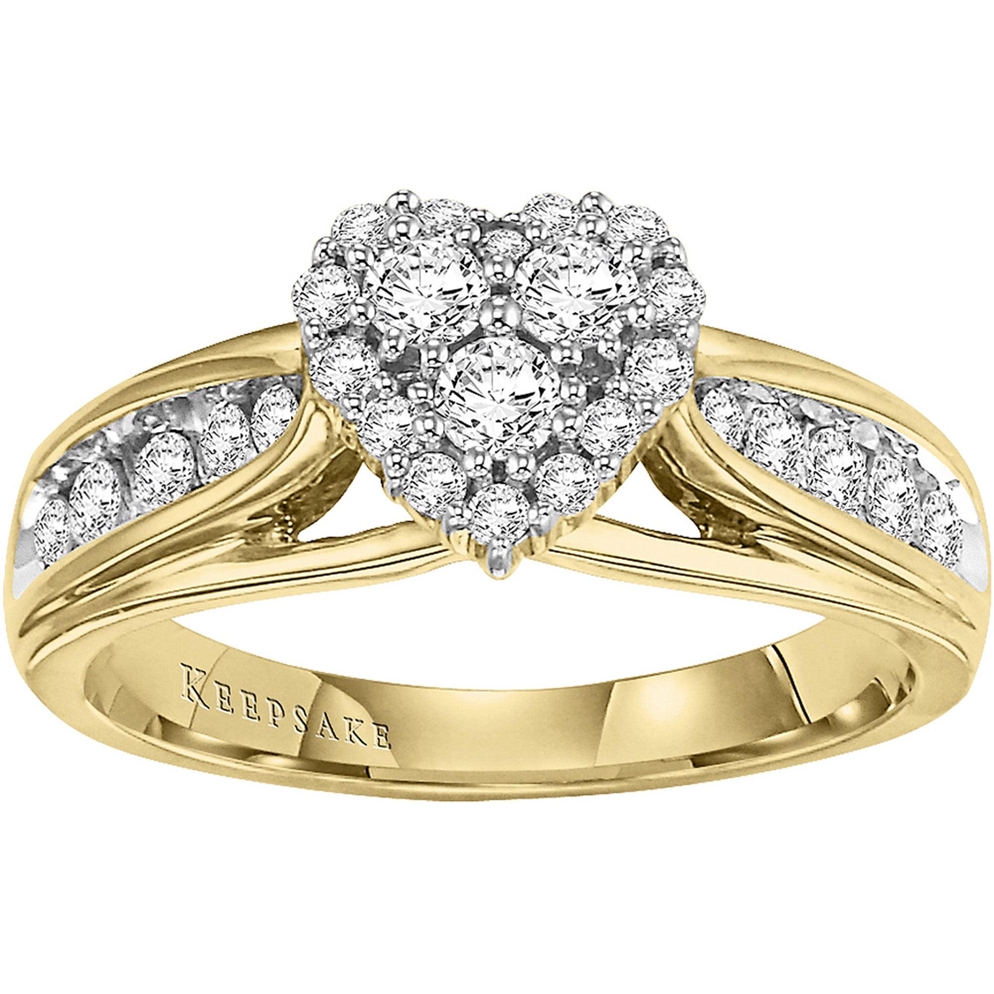 Keepsake Hearts Desire 1/2 Carat T.W. Certified Diamond 10kt Yellow Gold Engagement Ring