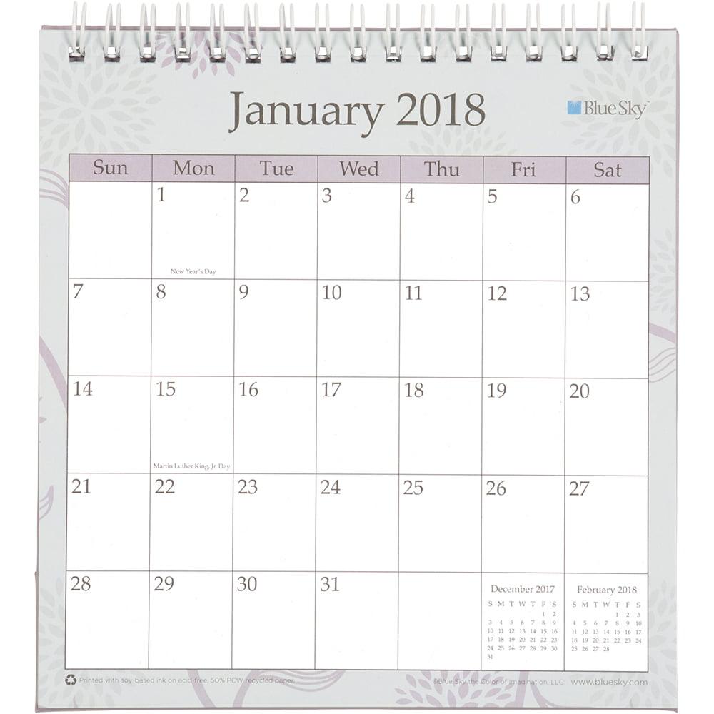 Blue Sky Rue Du Flore 6 0625 X 6 375 Monthly Desk Calendar With