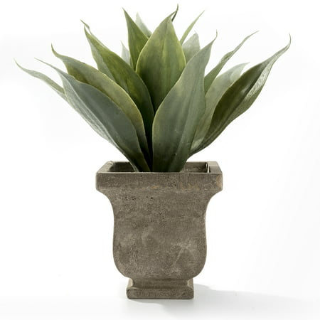 Faux Tabletops - Realistic Plastic Faux Plant Fake Gladiolus Tabletop Arrangement with pot for Home Decor(Green)