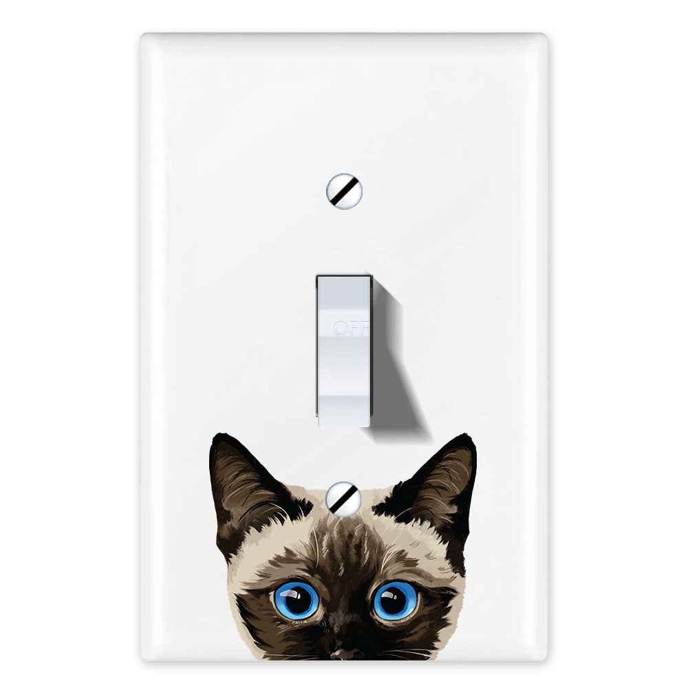 Wirester 1 Gang Toggle Light Switch Wall Plate Switch Plate Cover Animal Siamese Kitten Cat Walmart Com Walmart Com