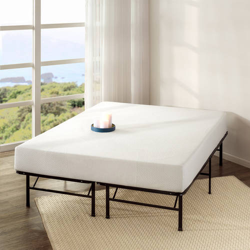 "Spa Sensations 8"" Memory Foam Mattress with Bed Frame Set, Multiple Sizes"