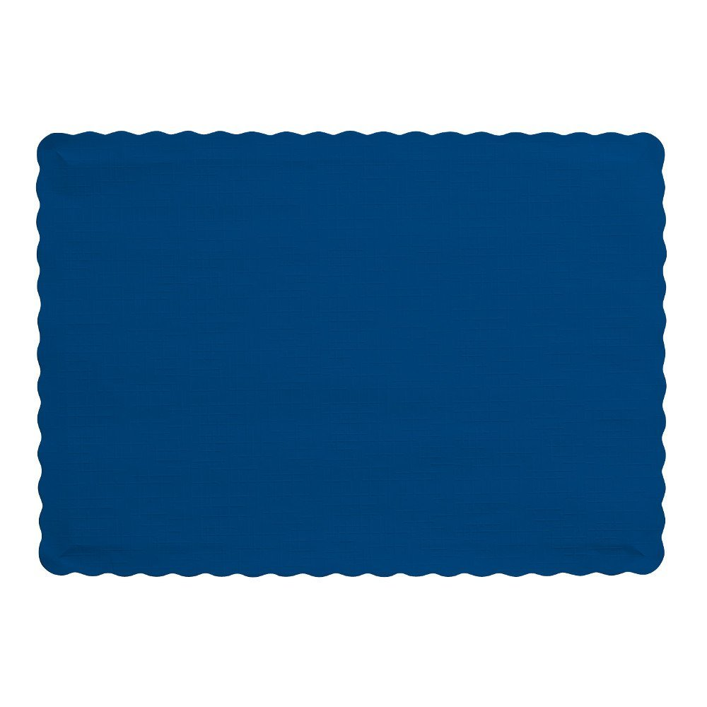 50 Count Touch of Color Paper Placemats, Navy, Ship from USA,Brand Creative Converting by