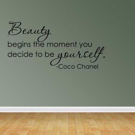 Wall Decal Quote Beauty Begins The Moment You Decide Coco Chanel Sticker R66