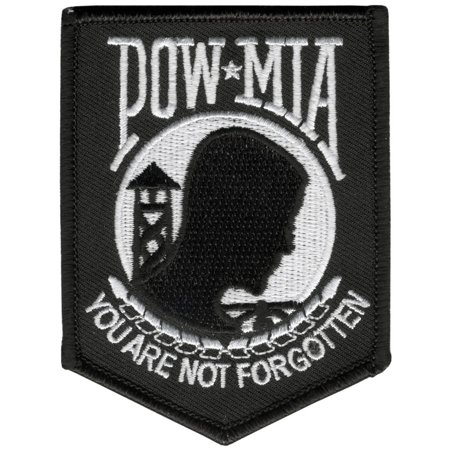 Pow Mia You Are Not Forgotten, Embroidered Iron-on / Saw-on Rayon PATCH - 3