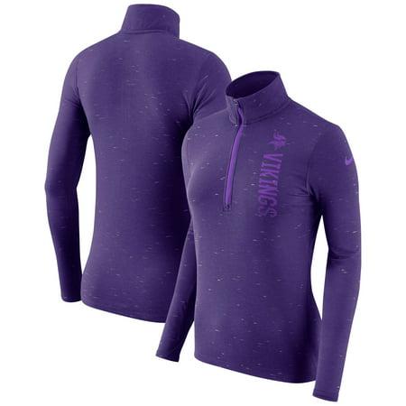 hot sales bf5e1 0fbc5 Minnesota Vikings Nike Women's Element Half-Zip Wordmark Performance Jacket  - Heathered Purple - XS - Walmart.com