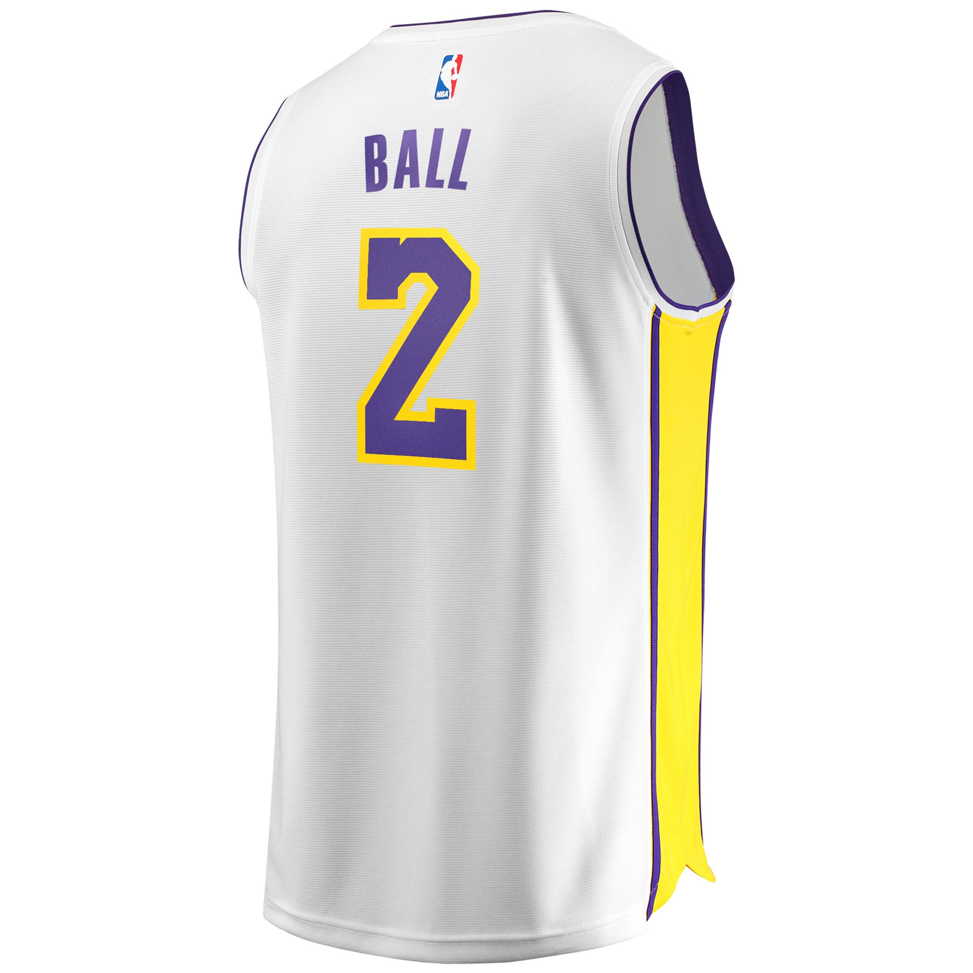 best service 5d812 2547e Lonzo Ball Los Angeles Lakers Fanatics Branded Youth Fast Break Replica  Jersey White - Association Edition