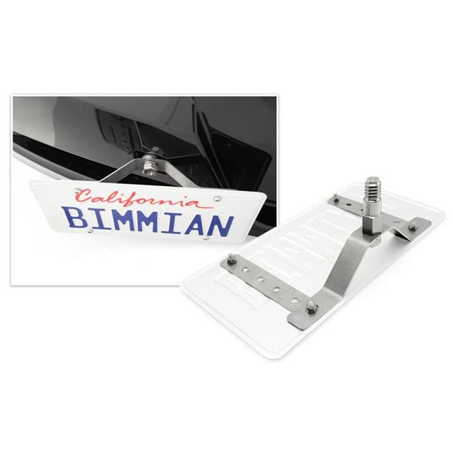 Bimmian TPH92T354 Mechunik Tow Hook License Plate Holder, Fits For BMW E92 - Titanium Silver