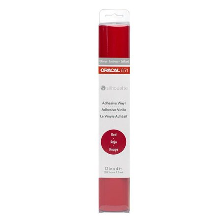 Rose Red Cameo (Silhouette Oracal 651 Adhesive Vinyl for Silhouette Cameo (Red))