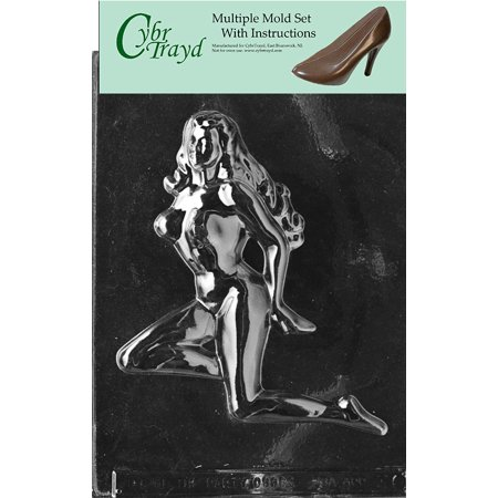 Nude Woman Adult Chocolate Candy Mold With Exclusive Copyrighted Cybrtrayd Instructions, Pack of 3 - Nude Adult