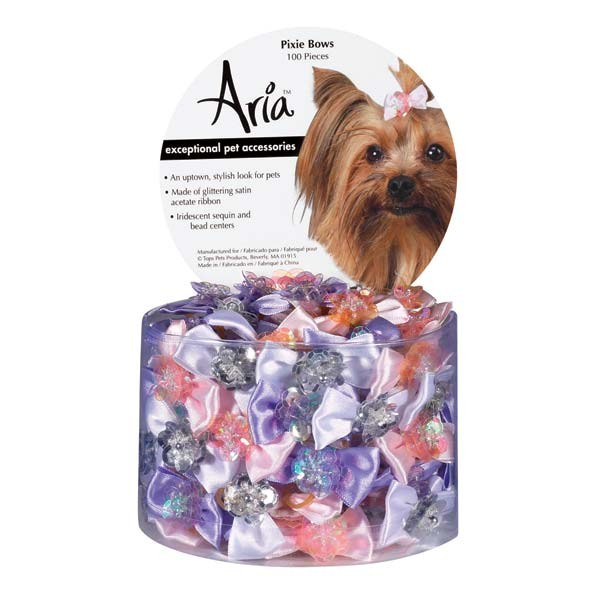 Aria Pixie Bow Canister 100pc