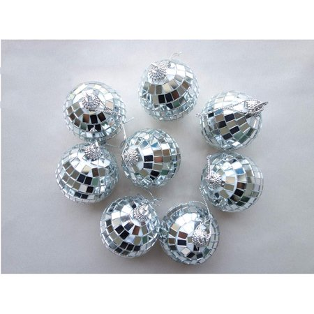 12 Pcs Mirror Balls Disco DJ Dance Decorative Stage Lighting Home Party Business Window Display Decoration 1.2 INCH - image 1 of 8
