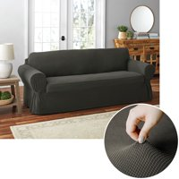 Mainstays Pixel 1-Piece Stretch Sofa Furniture Cover, Gray