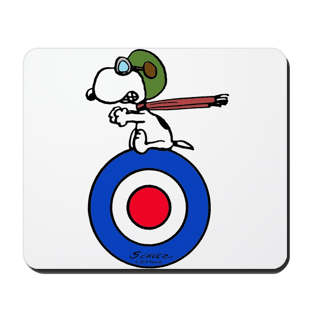CafePress - Flying Ace Snoopy - Non-slip Rubber Mousepad, Gaming Mouse Pad
