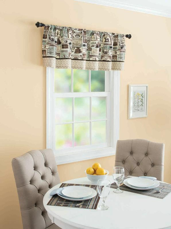 Better Homes And Gardens Fresh Brewed Kitchen Valance, Blue