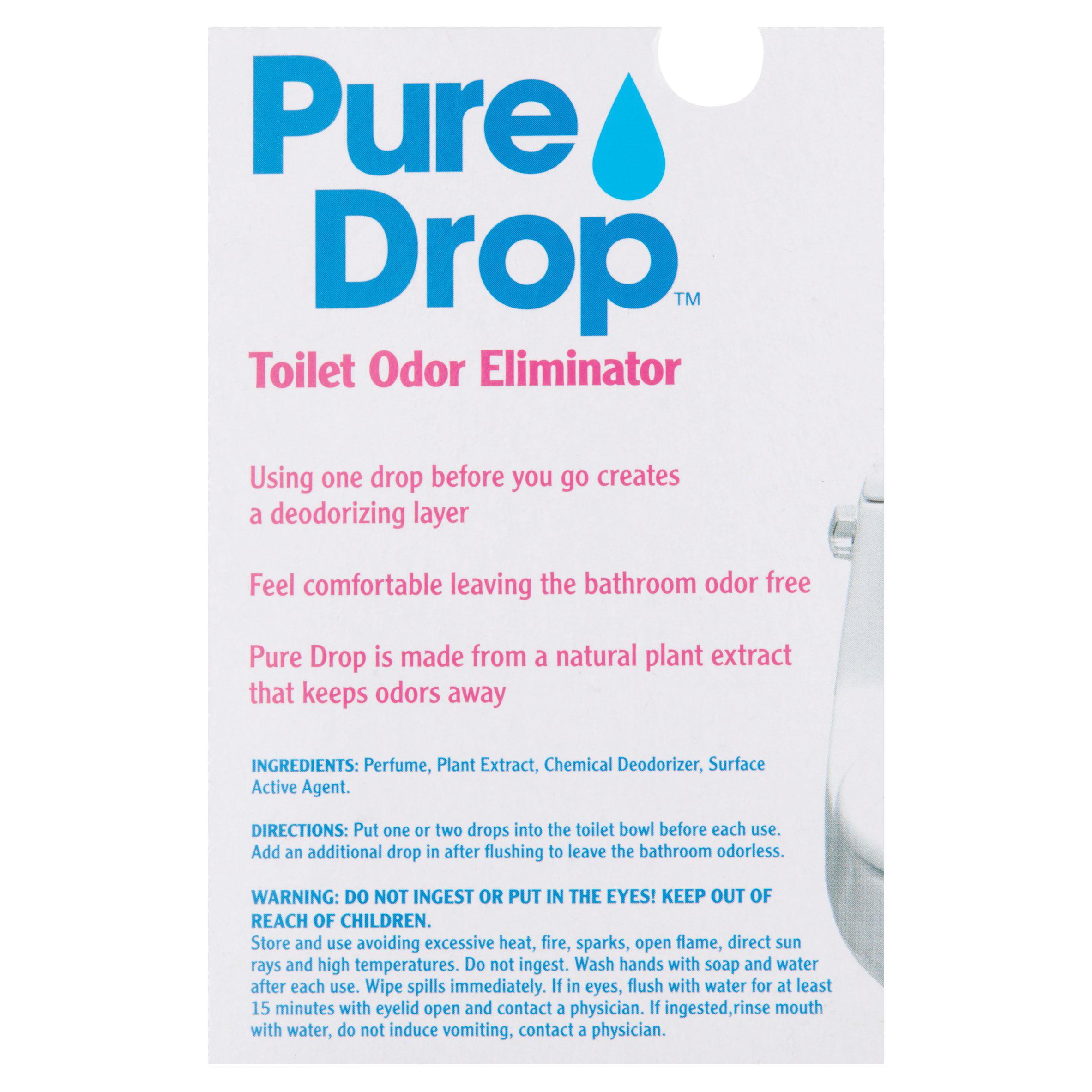 Pure Drop Toilet Odor Eliminator, 0.67 Fl Oz   Walmart.com