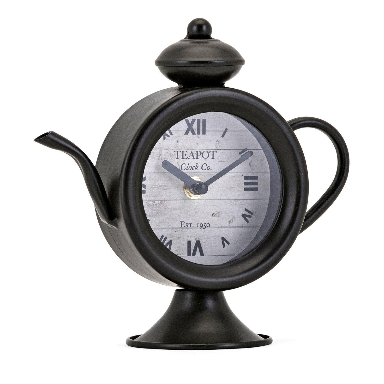 Imax Teapot 8 In Desk Clock Walmart