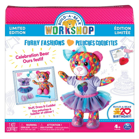 Build-A-Bear Workshop - Furry Fashions - Build-A-Bear 20th Birthday Celebration Bear - Limited Edition - Bear Birthday